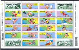 BRESIL - BRAZIL - 2000 - Feuille Compléte Sports Olympiques  - N** - Blocks & Kleinbögen