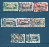 FALKLAND ISLANDS DEPENDENCIES SOUTH GEORGIA 1944  B1/B8 ** Cat £24 - Cw72 02 - Falkland Islands