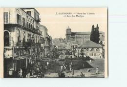 BEYROUTH - Place Des CANONS - Rue Des Martyrs - Belle Scène Animée - TBE - 2 Scans - Liban