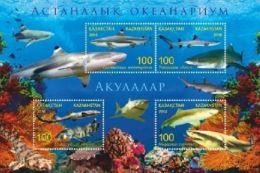 Kz 972-975 Bl.84 Astana Aquarium Shark 2016 - Kasachstan