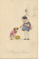 ILL.RE  BOMPARD  BUON ANNO 1934 VIAGGIATA FP - Bompard, S.