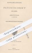 Original Patent - Kirchweger In Hannover , 1880 , Gaswaschapparat | Gas Waschen | Gase , Gasbereitung !!! - Historische Dokumente