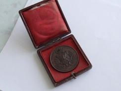 VILLE DE ST BRIEUC EXPOSITION REGIONALE DE 1865 MEDAILLE BRONZE 19EME - Bronzes