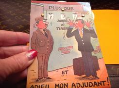 Militaire Humoristique Calendrier De La Classe  Militaire Adieu Mon Adjudant - Humour