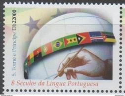 ST. THOMAS, 2014,MNH,  EIGHT  CENTURIES OF PORTUGUESE LANGUAGE, FLAGS, 1v, - Languages