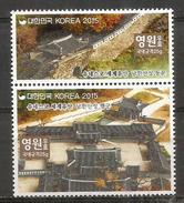 Forteresse Namhansanseong . Corée Du Sud. (UNESCO WORLD HERITAGE 2015) Deux Timbres Neufs ** Se-tenant - Monuments