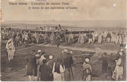 563-Ex Colonia Libia-Tripoli-Aviazione-L' Aeroplano Del Capitano Piazza Di Ritorno Da Una Esplorazione All' Interno - Libia