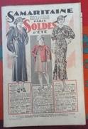 Catalogue La Samaritaine Soldes D' Été Années 1930 - Advertising