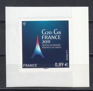 G20, AUTO ADHESIF,  2011  Neuf **   Grande Marge - Adhésifs (autocollants)