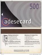 TANZANIA - Adesemi Telecard TSHS 500(blue Corner, Reverse 5), Used