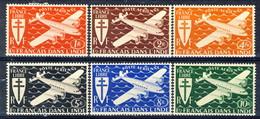 India Posta Aerea 1942 Serie N. 1-6 MLH Catalogo € 12 - India (1892-1954)