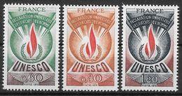 Frankreich 1975 / MiNr.  13 - 15   Dienstmarken Für Die UNESCO    ** / MNH   (o3353) - Neufs