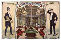 Souvenir De Monte Carlo Casino Illustrateur - Monte-Carlo