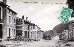 Cpa (08)  Chatel-chehery  -  Rue  Allant  Vers Apremont (sepia) - Altri Comuni