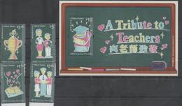 HONG KONG, 2016, MNH, TRIBUTE TO TEACHERS, BOOKS,  4v+S/SHEET - Jobs