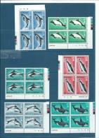 FALKLAND ISLAND 1980 YT N° 293 à 298 **  Bloc De 4  Bord De Feuille  -  Cw 7801 - Falkland Islands