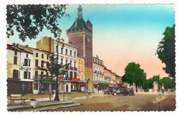 POSTAL  - -VILLENEUVE SUR LOT  -FRANCIA  - LA PUERTA DE PARIS Y LA PLAZA  ( LA PORTE DU PARIS ET LA PLACE ) - Villeneuve Sur Lot