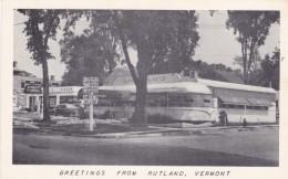 Rutland Vermont, Lindhom's Diners Dining Architecture, C1950s Vintage Postcard - Rutland