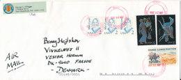 USA Cover Sent Air Mail To Denmark East Greenbush NY 28-6-2006 - Etats-Unis
