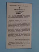 Pieux Souvenir Petit MARC : Papa Et Maman Marc DEVETTER - ALLOSSERIE 19/12/1940 - 16/12/1944 ( Detail Zie Foto´s ) !