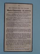 DP Maria-Clementina ALAERTS ( Geeraerts ) Leefdaal 26 Juli 1877 - Sterrebeek 3 Aug 1951 ( Detail Zie Foto´s ) !