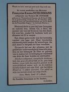 DP Françoise Emma SCHURMANS ( De Joncker ) Wezembeek-Oppem 25 April 1888 - 26 Okt 1952 ( Detail Zie Foto´s ) !