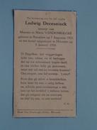 DP Ludwig DECEUNINCK ( Zoontje Van VANDENBULCKE ) Roeselare 7 Aug 1953 - Moorsele 5 Jan 1954 ( Detail Zie Foto´s ) !