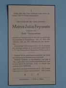 DP Maria Julia FEYAERTS ( Vissenaekens ) Tremeloo 10 Mei 1877 - Kampenhout 14 Mei 1950 ( Detail Zie Foto´s ) !