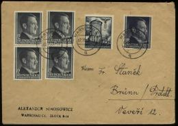 WW II GG Generalgouvernement Hitler Polen Briefumschlag : Gebraucht Warschau - Brünn 1943 , Bedarfserhaltung. - Briefe U. Dokumente