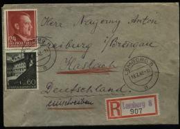 WW II GG Generalgouvernement Hitler Polen R - Briefumschlag : Gebraucht Lemberg - Freiburg Haslach 1942 , Bedarfserhal - Briefe U. Dokumente