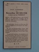 DP Bernardina DE KELVER ( Jan Vandeput ) Wezembeek-Oppem 22 April 1853 - 9 Dec 1942 ( Zie Foto´s ) !