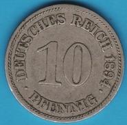 DEUTSCHES REICH 10 PFENNIG 1894 E  RR - [ 2] 1871-1918 : German Empire