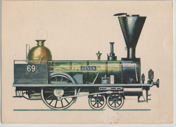 Train Railway Heves 1846 Hungarian Central R. Engine Locomotive Post Card Postkarte Karte Carte Postale 5697 POSTCARD - Trains