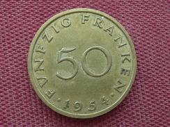FRANCE SARRE Monnaie De 50 Franken 1954 Superbe état - Sarre (1954-1955)