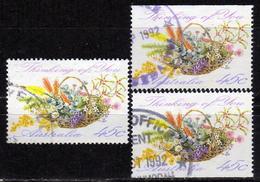 AUSTRALIEN 1992 - MiNr: 1285 A + 2x D Grussmarke Used - 1990-99 Elizabeth II