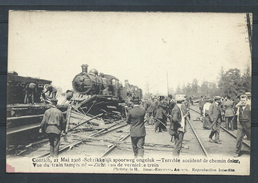 +++ CPA - KONTICH - CONTICH - Mai 1908 - Accident Chemin De Fer - Vue Train Tamponné- Schrikkelijk Spoorweg Ongeluk  // - Kontich