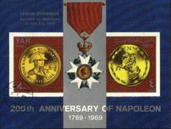 Yemen Napoleon Anniversary, French History Used Cancelled Block M/S (U-99)