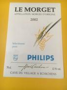 2760 -  Suisse Vaud Le Morget 2002 Selectionné Pour Philips - Autres