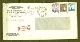 Aangetekende Brief Van Mouscron Moeskroen B4B - 1953-1972 Lunettes