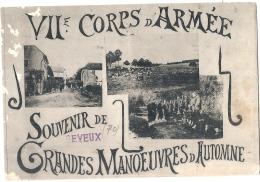 VII Corps D´Armée - Souvenir De Grandes Manoeuvres D´Automne 1907 écrite PELURAGE - Manoeuvres