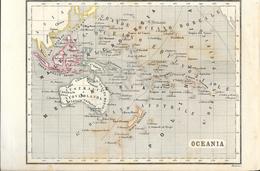 Carte Géographique Du XIXe Siècle - Oceania: Grande Oceano Boreale Et Australe - Cartes Géographiques