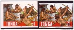Tonga Cromalin Proof 1996  - Cavemen - Ancient Bear - 4 Exist - Prehistorics