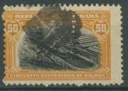 Panama-Kanalzone 1915, 50 Cents Trockendock In Balboa, 36 Gestempelt - Kanaalzone