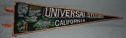 1950s - LARGE - Vintage Fanion Pennant- Canvas - UNIVERSAL STUDIOS CALIFORNIA - Made In Japan - Obj. 'Souvenir De'