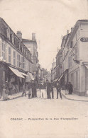 Bf - Cpa COGNAC - Perspective De La Rue D'Angoulème - Cognac