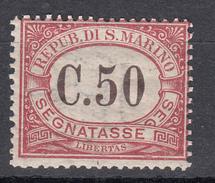 San Marino - 1924 - Segnatasse 50 Cent. Sass. 13 ** MNH - Segnatasse