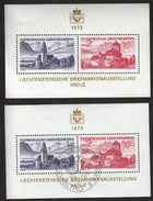 Liechtenstein 1972 / 8th Philatelic Exhibition LIBA / Mini Sheet / First Day Cancel - Filatelistische Tentoonstellingen