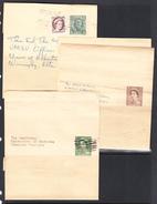 Canada 1938-54 Postal Wrappers, Cancelled, Sc# PB28,PB32-33 - 1953-.... Reign Of Elizabeth II