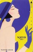 Télécarte Japon / 110-46701 - Cosmétiques NOEVIR / Femme Chapeau - Girl Japan Cosmetics Phonecard Parfum Perfume - 223 - Parfum