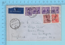 """Cairo - 1946 By Air Mail To London England Cover """"arabian"""" 7 Sept. 1946 - Égypte"""